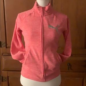 Puma Hot Pink Heather Zip Up, NWT